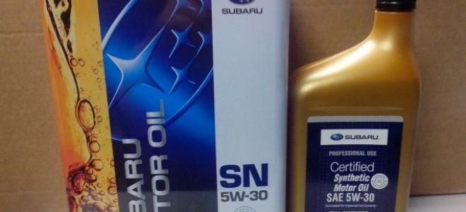Масло Subaru 5W-30 — технические возможности, свойства, стоимость и отзывы
