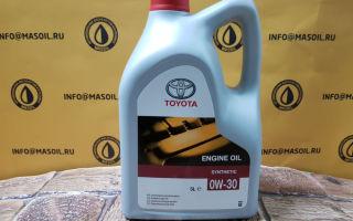 Технические характеристики моторного масла Toyota 0W-30 — отзывы покупателей