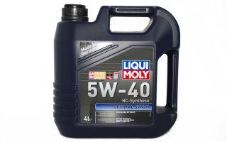 Основные технические характеристики масла LIQUI MOLY 5W40 — стоимость, отзывы