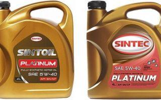 Синтек Платинум 5W40 — цена и отзывы о моторном масле, свойства, характеристики