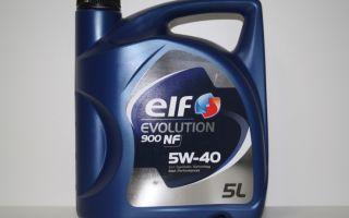 Особенности использования и основные характеристики ELF Evolution 900 NF 5W-40