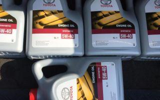 Особенности использования моторного масла Toyota 5W-40