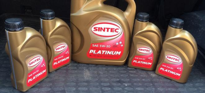 Масло Sintec — тех характеристики моторных масел, отзывы, цены