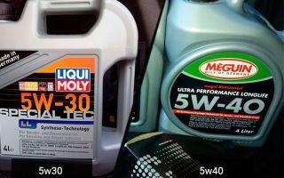 5W30 в 5W40 можно ли долить масло (смешивать) между собой