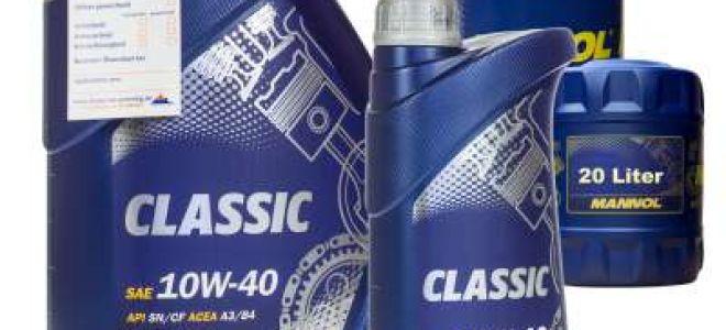 Полусинтетик MANNOL 10W-40 — тех.характеристики моторного масла, отзывы, цена