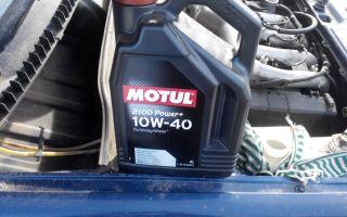 Виды моторных масел Motul с коэффициентом вязкости 10-W40