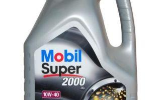 Какими свойствами обладает масло Mobil Super 2000 x1 10W-40