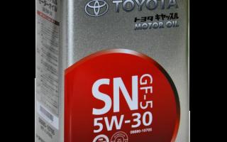 Особенности моторного масла Toyota 5W-30: характеристики, отзывы, цена