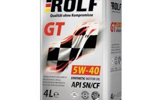 Универсальные свойства и технические параметры моторного масла ROLF 5W-40