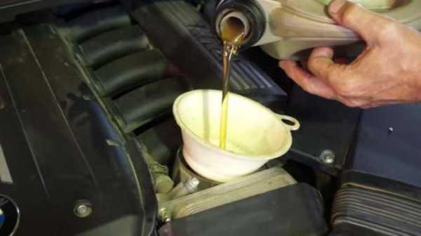 Небольшой перелив масла в двигатель